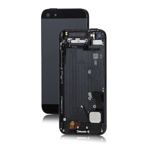 - BEST SHOPPER Back Cover Housing Assembly with Middle Frame Bezel and Other Replacement Parts Compatible with Metal Apple iPhone 5 - Black