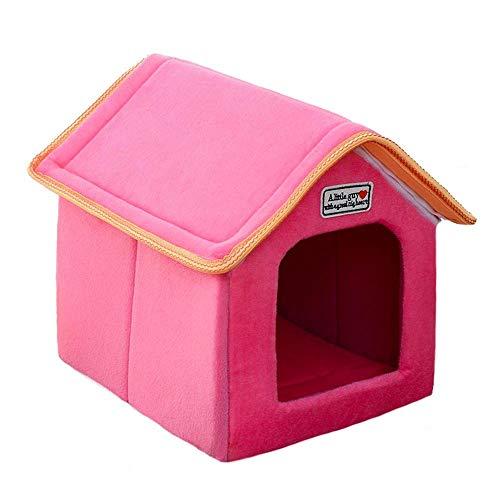 Yiuu Casa De Mascotas Cama Plegable con Estera Perro Suave Puppy Sofa Cushion Casa Kennel Nest Cama De Gato para Perros...