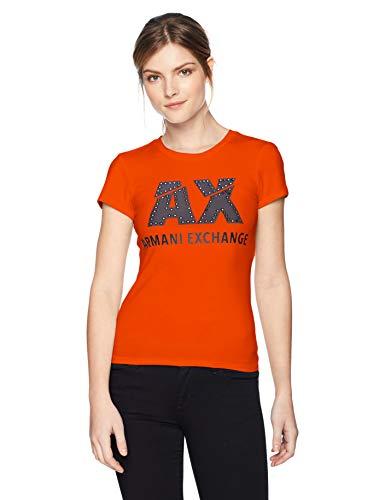 1640 Armani Exchange spritz Donna Arancione T shirt YBHpnwqrY
