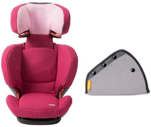 Maxi-Cosi RodiFix Booster Car Seat with Seat Belt Adjuster, Cerise