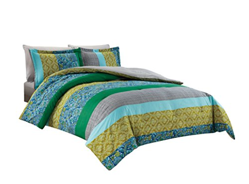Chezmoi Collection Ivan 4-Piece Retro Paisley Medallion Bedding Comforter Set with Fitted Sheet (Twin ()