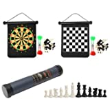 Chess Set Magnetic - Travel Chess Set - 2 in 1 3631cm Chess Set Dart Board Outdoor Travel Family Entertainment Chess Dart Game (Chess Set Outdoor)