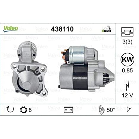 Amazon.com: Valeo Motor de arranque 12 V compatible con ...