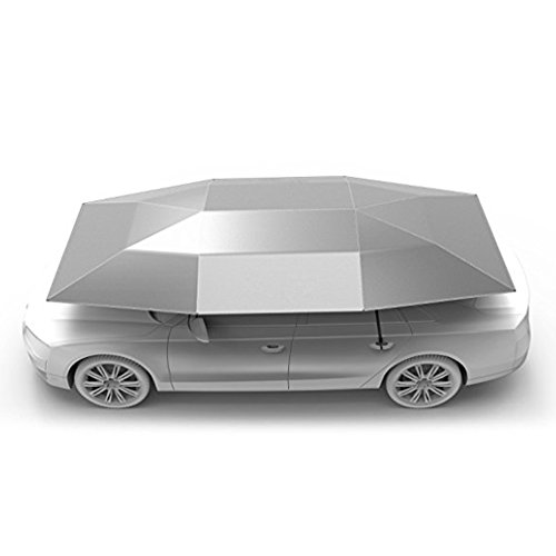 (Rooftop Tent, Automatic Semi-auto Manual Folded Car Umbrella, Portable Auto Protection Car Tent Sunshade, Movable Carport Canopy for Outdoor Camping Tent (2019 New Arrival 4.8M)(Silver))