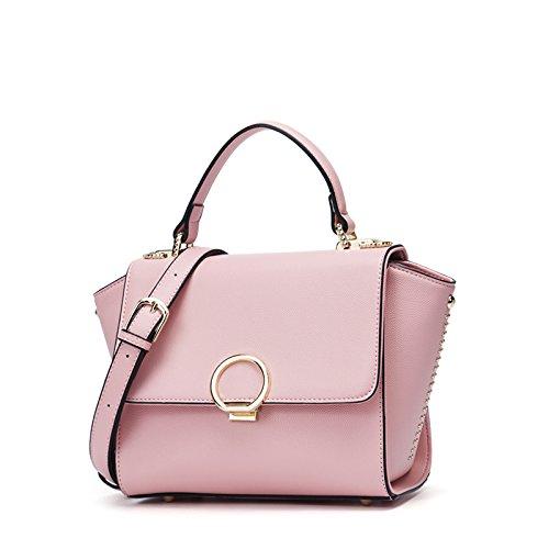 Sprnb Verano Pequeña Bolsa Bolso Bolso De Moda Femenina Todo Coincide Con Alas, Negro Pink