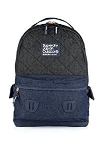 Superdry Montana Rucksack Quilted Raw Black Navy: Amazon.co.uk ... : superdry quilted rucksack - Adamdwight.com