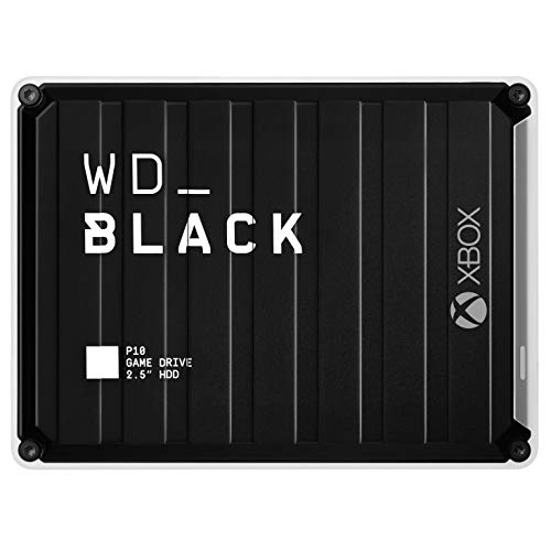 WD_Black 5TB P10-Game Drive, Portable External Hard Drive Compatible with -Playstation, Xbox, PC, & Mac