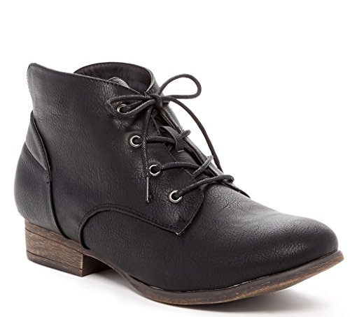 Flare Leather Heels - 8