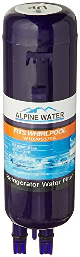 Alpine Water F17 Replacement Cartridge Premium Filter for Whirlpool Refrigerator W10295370 and Kenmore 469930 (Pur Replacement Filter W10295370 compare prices)