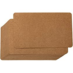 Blank Index Cards - 100-Count Rounded Blank Kraft Flash Cards, for Business Cards Message Cards, DIY Gift Cards, Kraft Paper, 3 x 5 Inches