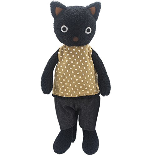 JIARU Dressed Stuffed Animals Cat Plush Toys Black 13 Inches