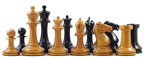 Staunton Castle, Jaques Reproduction 1854 Edition Wooden 3.5'' Chess Pieces - Best Chess Board Game - Optimal Weighted Chess Pieces, for Kids & Adults