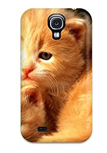 MmkmMAd369tCHqm LisaEMurphy Awesome Case Cover Compatible With Galaxy S4 - Two Orange Kittens