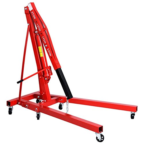 Goplus 2 TON 4000 lb Engine Hoist Stand Cherry Picker Ship Crane Folding Lift (Red) by Goplus (Image #3)