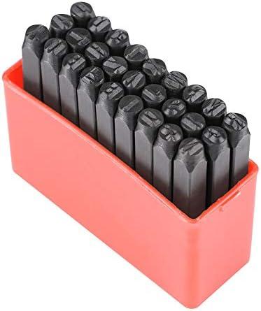 Yencoly 36 Stksset 4mm met Opbergdoos Metalen Stempel Lederen Craft Stempel Duurzaam Metalen Stempel Kit Koolstofstaal voor Metalen Markering Behoeften Jewelr