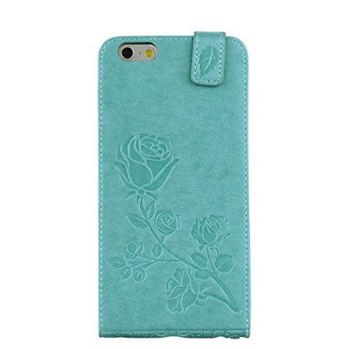 Wkae Roses Pressed Flowers Pattern Vertical Flip Leder Tasche mit Card Slot & Lanyard Für iPhone 6 Plus & 6s Plus ( Size : Ip6p6060g )