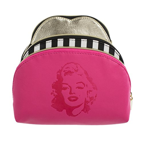 Marilyn Monroe Nested Set Of 3 Cosmetic Cases   Pink Marilyn Print