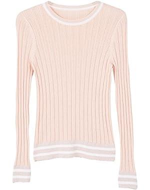 Mango Women's Contrast Trim Sweater