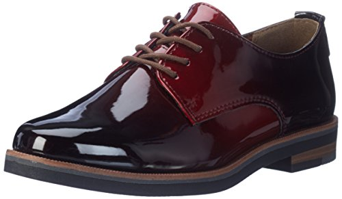 Marco Tozzi Damen 23200 Oxfords Rot (Merlot Patcom)