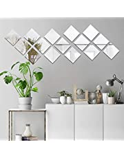 decalmile Acrylic Mirror Wall Sticker Decal Living Room Bedroom Home Wall Art Decor
