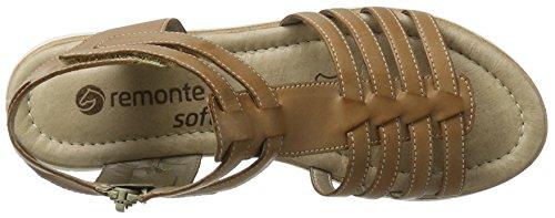 Remonte D3959, Sandalias con Cuña para Mujer Marrón (Tan/20)