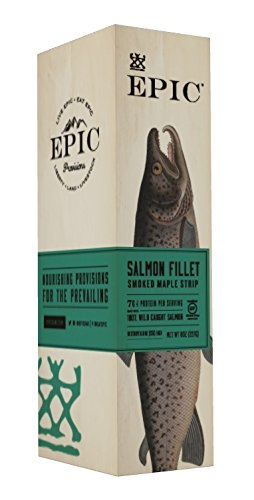 Epic 100% Wild Caught Smoked Maple Salmon Fillet Strip, 0.8 Ounce (Pack of 10) (Fish Smoked Salmon)