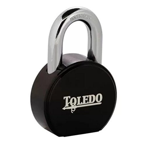 Round Padlock TBK90R : Has American Lock Keyway : Retrofits With Master Lock Pro-Series Cylinders : Custom Keyed To Work With Same Group Key : By TOLEDO