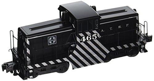 Bachmann Industries General Electric 44-Ton Switcher Santa Fe 465 O Scale Train, Black & (Switcher Santa)