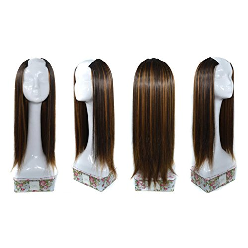 Womens Wigs, Inkach Trendy Girls Straight Weft U-Part Synthetic Hair Lace Wig Lifelike Human Hair (G)