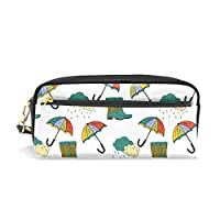 Rain Boots Umbrella Waterproof Travel Toiletry Pouch,Pencil Pen Case Multi-functional Cosmetic Makeup Bag, Fashion Zipper Pouch Purse.