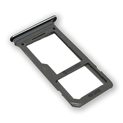 Replacement Single SIM Card +Micro SD Card Holder Slot Tray for Samsung Galaxy S8 G950 SM-G950 (Single SIM -Black)