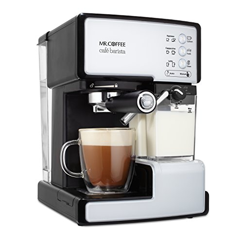 Mr. Coffee BVMC-ECMP1102 Cafe Barista Espresso and Cappuccino Maker, White ()