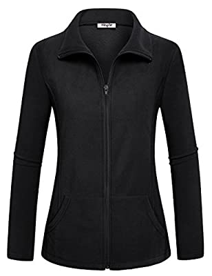 Hibelle Women's Outdoor Full-Zip Thermal Fleece Jacket With Pockets