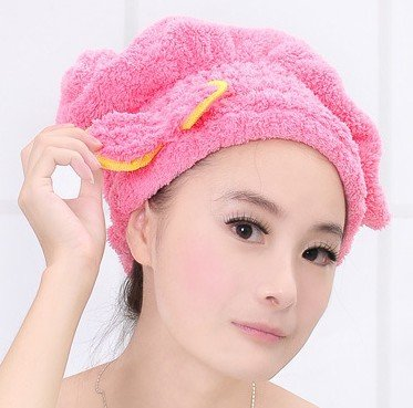 Hat Hair Dryer - Womens Girls Lady's Magic Quick Dry Bath Hair Drying Towel Head Wrap Hat Makeup Cosmetics Cap Bathing Tool TQ-BR012 - Hair Dryer Hat (hot (Jefferson Towel)