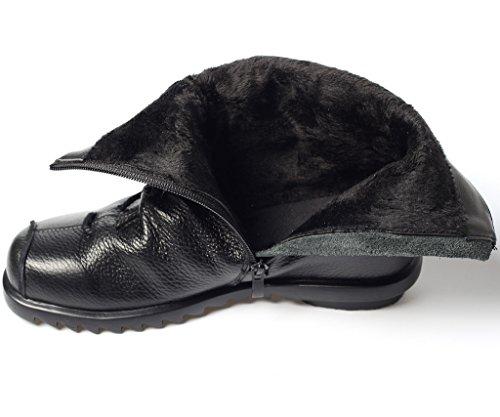 MatchLife Black Piel Fleece de para Náuticos mujer Fnr6RqFZ