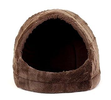 Best Friends by Sheri Pet Cave in Fur, 18 x16 x15