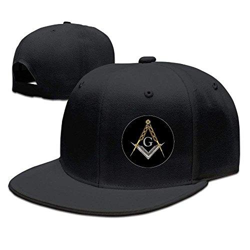 Era Hat Vintage (SunRuMo Freemason Logo Square and Compass Personalized Plain Flat Baseball Hats Vintage Snapback Hats Dad Hat For Man)