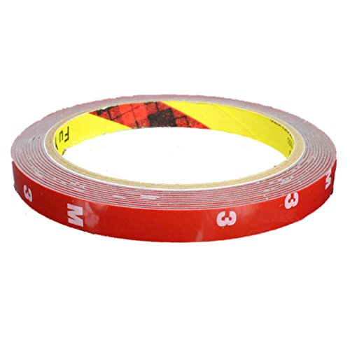 3M Double Sided Tape - SODIAL(R)3M Strong Permanent Double Sided Super Sticky Foam Tape Roll For Vehicle Car, Red 15MM*3M