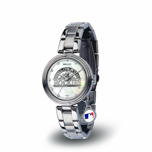MLB Colorado Rockies Charm Watch, Silver (Charm Colorado Rockies)