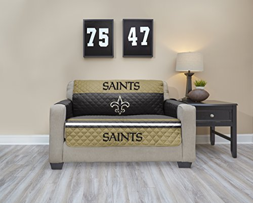 NFL New Orleans Saints Love Seat Waterproof Furniture Protectors With  Pockets