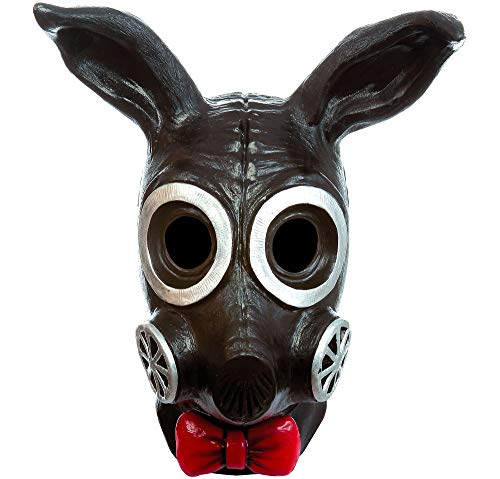 Black Rabbit Halloween Costume (Black Bunny Rabbit Gas Mask Halloween Costume Accessory, One Size, 11