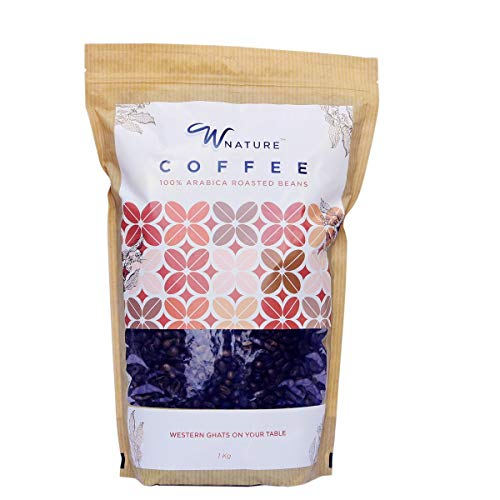 Wnature Organic Roasted Coffee Beans 1 Kg – 100% Pure N Natural