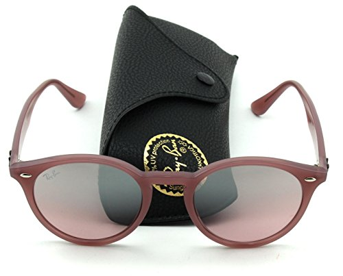 Ray-Ban RB2180 Unisex Round Sunglasses (Pink Frame/Pink Gradient Mirror Lens 62297E, - In Ban Made Italy Ray