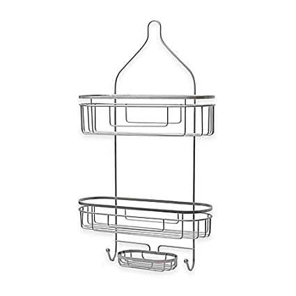 Charmant Extra Wide And Extra Long Shower Caddy In Satin, .ORG