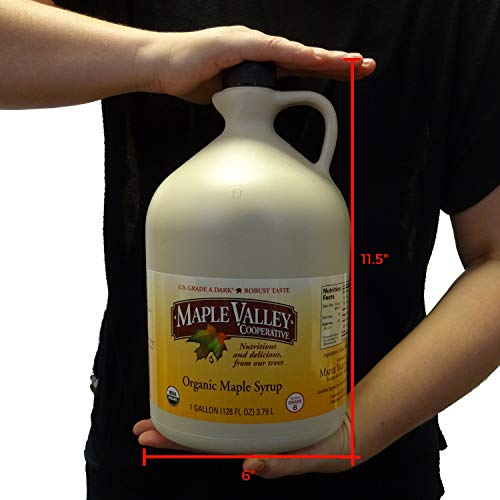 Maple Valley 128 Oz. (Gallon) Organic Maple Syrup - Grade A Dark & Robust (Formerly Grade B) by Maple Valley (Image #5)