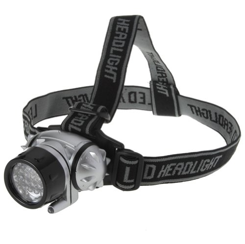Lighting EVER Super Bright LED Headlamp, 18 White LED and 2 Red LED, 4 Brigthtness Level Choice, Outdoor Stuffs