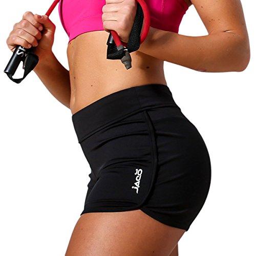 Jaco Gym Shorts Women Phone Pocket – Yoga Pilates MMA Bike Sports Workout Crossfit – DiZiSports Store