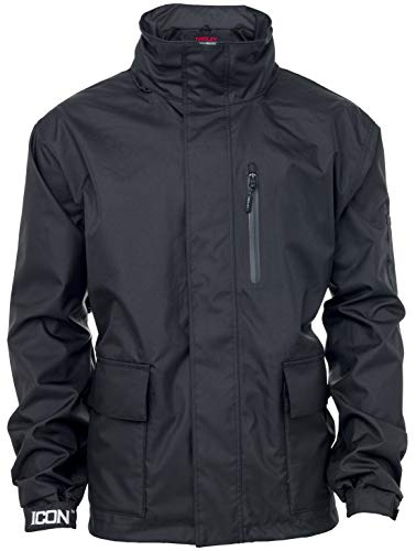 (Tingley Workreation Icon J24113 Waterproof Jacket with Roll-A-Way Adjustable Hood - Black)