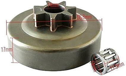 jrl 2/pcs pi/ñ/ón embrague tambor cojinetes de agujas para Husqvarna 136/141/36/41/motosierra