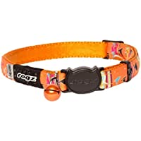Rogz Neocat Safeloc Cat Collar, Orange Candy